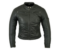 DS842 Women's Lightweight Drum Dyed Naked Lambskin Jacket