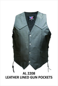 MEN'S VEST WITH SIDE LACES AND GUN POCKETS