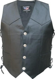 MEN'S BASIC SIDE LACED VEST WITH BUFFALO SNAPS