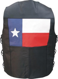 MEN'S BASIC VEST WITH SIDE LACES AND TEXAS FLAG