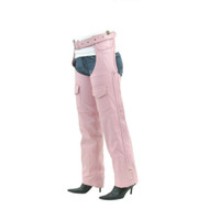 Women Pink Braided Chaps