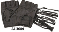 Allstate Leather 3004 Leather Fingerless Gloves  with Fringe