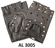 AllState Leather 3005 Fingerless Gloves with Studs