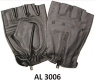 Allstate Leather 3006 Fingerless Gloves  with Zippered Back