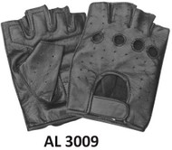 Allstate Leather 3009 Lambskin Fingerless Gloves.