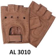 Allstate Leather 3010 Brown Fingerless Gloves