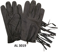 Allstate  Leather 3019 Unlined Gloves with Fringe