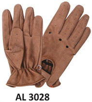 Allstate Leather 3028 Brown Driving Gloves