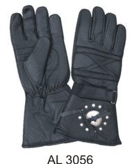 Allstate Leather 3056 Padded Riding Gloves with Studs