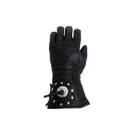 Motorcycle Gauntlet Glove With Concho and Studs