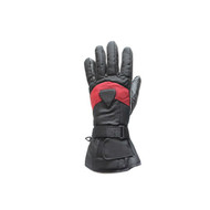 Motorcycle Full Finger Gloves With Red Stripe