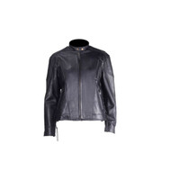 Women Heavy Duty Soft Leather Vented Racer Jacket