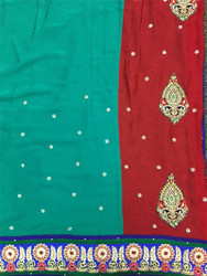 Saree George 51 (Dark Red/Green)