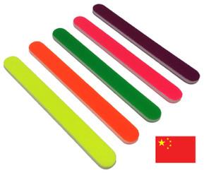 """Neon 7"""" Sponge File Variety Pack: 80-120-150-180-240"""