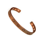 Accents Kingdom Men's Magnetic Copper Golf Bangle Bracelet Screw