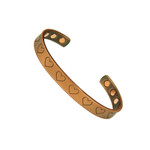 Accents Kingdom Lovely Magnetic Copper Golf Bangle Bracelet Hearts