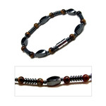 Accents Kingodm Men's Magnetic Hematite Tiger's Eye Bead Bracelet