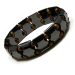 Accents Kingdom Men's Magnetic Hematite Tiger's Eye Fashion Bracelet