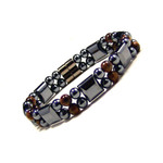 Men's Magnetic Dual Strand Tiger's Eyes Bracelet