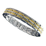 Men's Surgical Stainless Steel Magnetic Golf Bracelet A