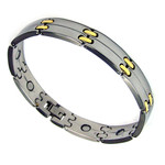 Men's Surgical Stainless Steel Magnetic Golf Link Bracelet F