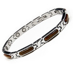 Womens Tiger's Eyes Stainless Steel Magnetic Golf Bracelet