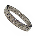Men's Stainless Steel Magnetic Therapy Golf Bracelet K