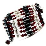 "36"" Magnetic Hematite Pearl Garnet Crystal Bead Necklace/Bracelet/Anklet/Lariat  E03"