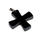 Men's Stylish Black Hematite Celtic Cross  Pendant