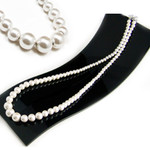 Women's Magnetic Hematite 4-10mm White Pearl Necklace 18""