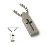 Men's Titanium Cross Sign Pendant Surfer Necklace S2