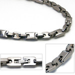 Accents Kingdom 8mm Titanium Men's Link Chain Necklace 20""