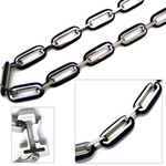 8mm Titanium Men's Box Chain Necklace 20""