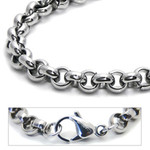 6mm Titanium Men's Rolo Chain Necklace