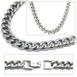 6.9mm Titanium Men's Curb Link Necklace Chain