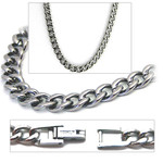 5.5mm Titanium Men's Curb Link Necklace Chain