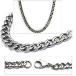 4.3mm Titanium Men's Curb Link Necklace Chain
