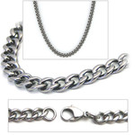 3.5mm Titanium Men's Curb Link Necklace Chain