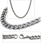 2.8mm Titanium Men's Curb Link Necklace Chain