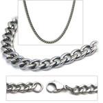 2.8mm Titanium Men's Curb Link Necklace Chain