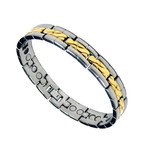 Men's 2 Tone Magnetic Titanium Golf Power Bracelet T1