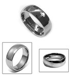 8mm Men's Tungsten Carbide Dome Cross Wedding Ring