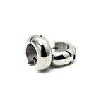 Titanium Dome Huggie Hoop Earrings