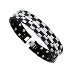 Men's Dual Power Black Titanium Magnetic Golf Bracelet T29