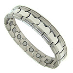 Men's Stainless Steel Magnetic Therapy Golf Bracelet M