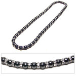 Accents Kingdom Women's Magnetic Hematite Tuchi Pearls Necklace with Crystal 18""