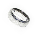 8mm Men's Titanium Magnetic Celtic Knot Wedding Ring Band