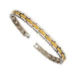 Two Tone Premium Titanium Magnetic Golf Bracelet T32