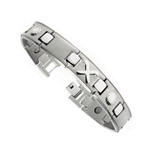 Men's Club And Ball Titanium Magnetic Power Golf Bracelet T35