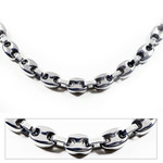 Men's 8MM Titanium Gucci Link Chain Necklace
